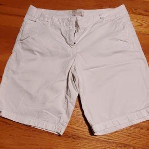 J Crew Bermuda shorts white